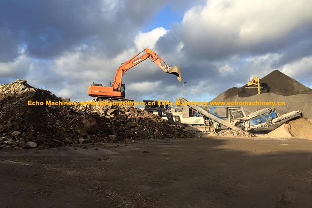 Kleemann MR 130 EVO Client Crushing Site Photo